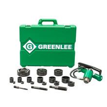 Kit de sacabocados hidráulicos de 11t con bomba manual y Slug-Buster® de 1/2in - 3in y 4in